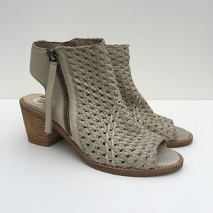 Sam Edelman Woven Leather cut out booties US 7.5